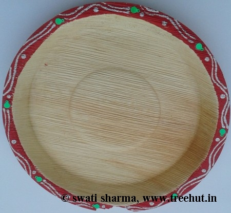 Eco friendly plate hand painted for Indian wedding Art therapy