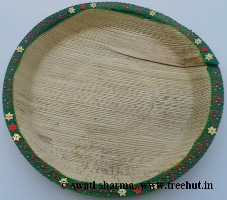 banana leaf plate decorated