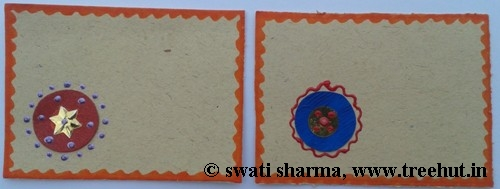 Art therapy with Indian greeting card making