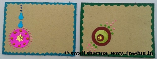 Craft therapy with Indian greeting card making