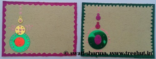 DIY Indian art on greeting card