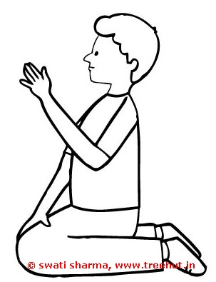 boy sitting coloring page