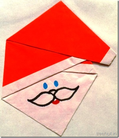 easy origami santa claus face paper craft for christmas