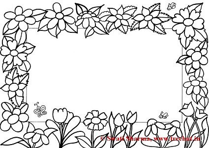 Free Frames Coloring Pages