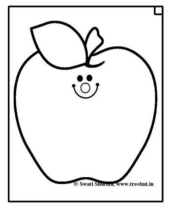 Apple coloring page for Art therapy idea