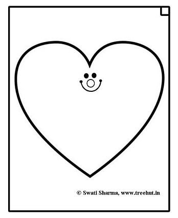 Heart coloring page for Art therapy idea
