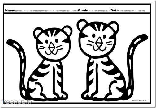 Tiger and Cub Coloring Pages (5)
