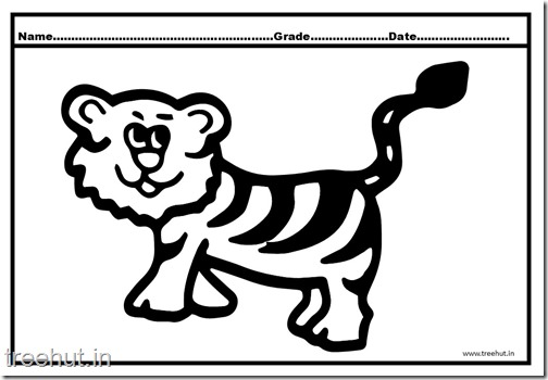 Tiger and Cub Coloring Pages (6)