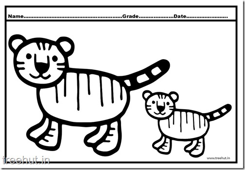 Tiger and Cub Coloring Pages (7)