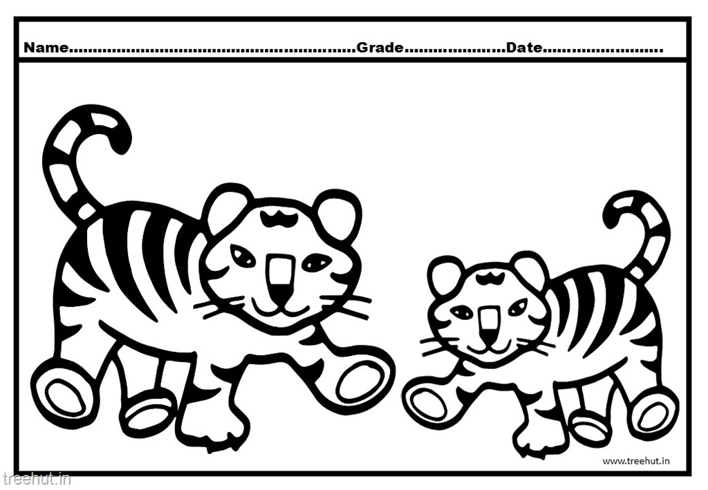 tiger cub coloring pages - photo#11