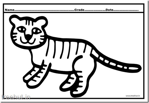 Tiger and Cub Coloring Pages (9)