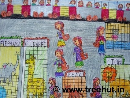 Art therapy idea incrayons by Insha Amir of Study Hall school, Lucknow, India