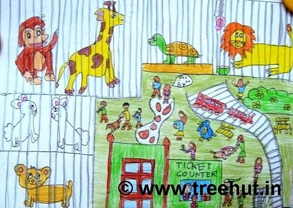 Art therapy idea zoo
