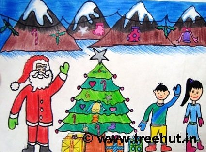 Christmas Art.Christmas Art By Kids At Study Hall