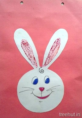 easter bunny face kids crafts for preschool toddlers