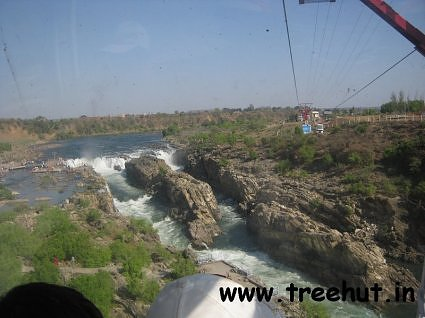 Photo taken from ropeway over Narmada river