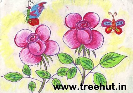 Nikita Khurana Children's Art Flowers