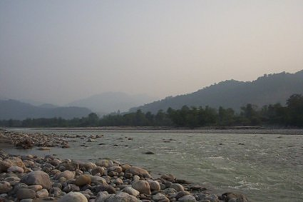 River Kosi Jim Corbett National Park buffer zone Ramnagar