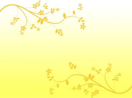 floral background clipart yellow