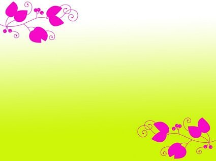 free lime green floral background clipart