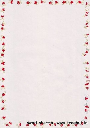 elegant floral border letter writing paper craft idea