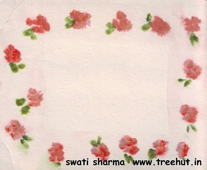 handpainted floral name plate idea