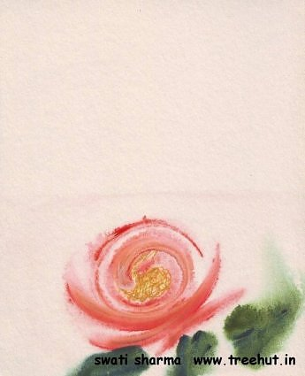 roses in water color