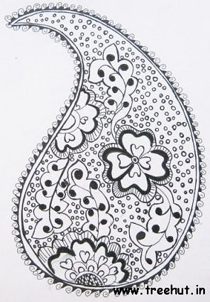 Henna pattern from Indian child Sneha Srivastava