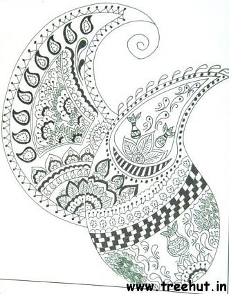 Indian paisley motif by Vidushi Tewari