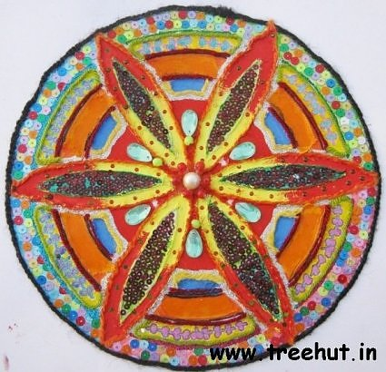Rangoli collage idea by child Ameya Gupta