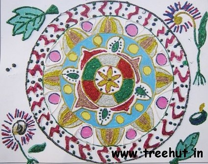 Rangoli design idea by child Maryam Asakura