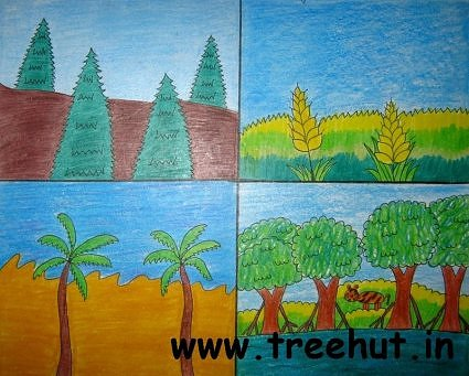Kinds of trees art  by Avantika Kalra