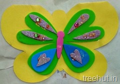 butterfly craft kids card