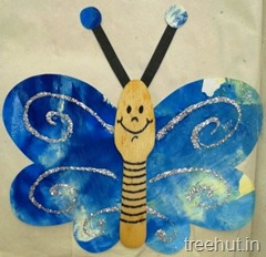 ice cream spoon butterfly kids craft