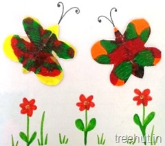 paint smudge butterfly kids craft