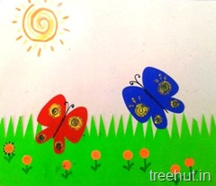 paper butterfly kids craft