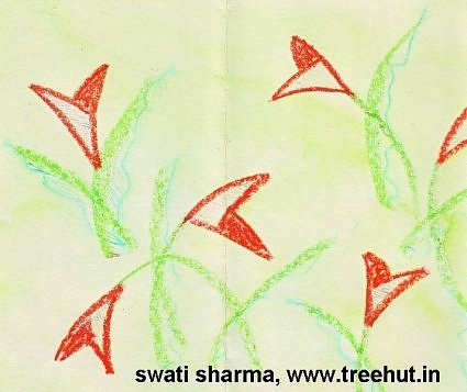 Water color floral painting idea to make gift wrap paper