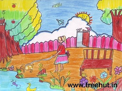Girl outdoors art by Isha Kesarwani