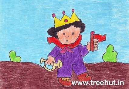 King kids art by Aviral Madan India