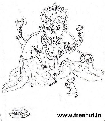 Ganesh coloring page by child  Divyansh Gupta India