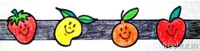 diy fruits bulletin board border 3
