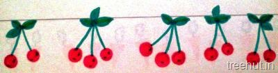 diy fruits bulletin board border cherries