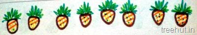 diy fruits bulletin board border pineapple craft