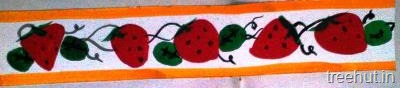 diy fruits bulletin board border strawberries hand painted