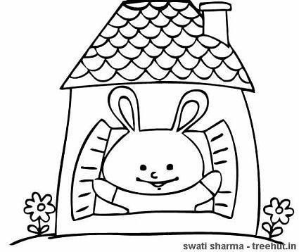 Rabbits Coloring Pages