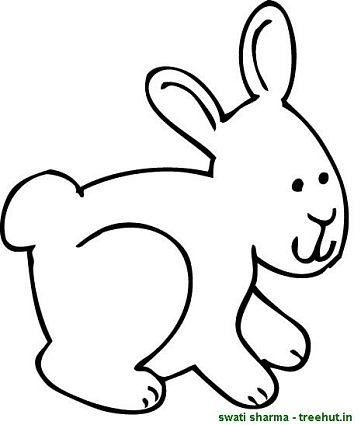 sweet bunny coloring sheet