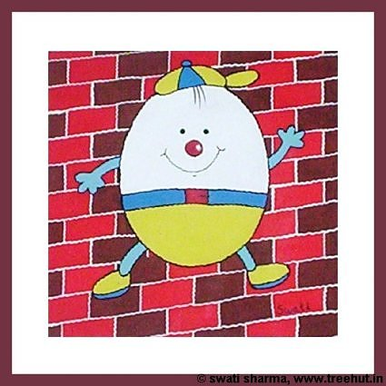 interior decor item humpty dumpty painting for childrens room
