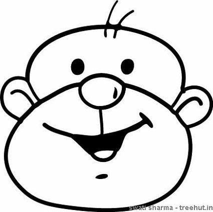 Monkey coloring pages for Monkey face coloring pages