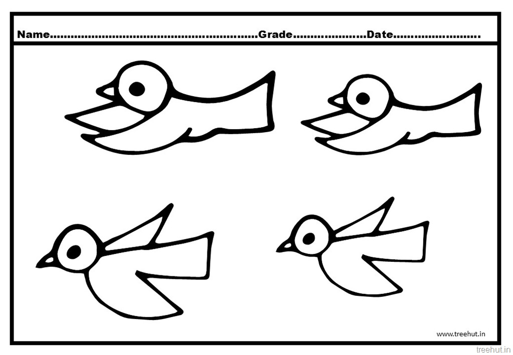 cute flying birds coloring pages