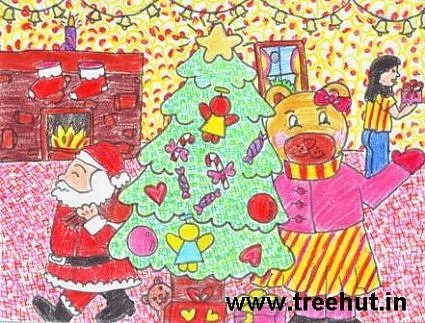 christmas art ideas with crayons